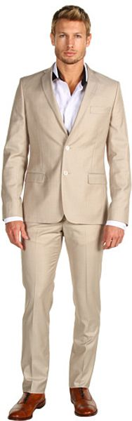 Versace Two Button Suit in Beige for Men (b) - Lyst
