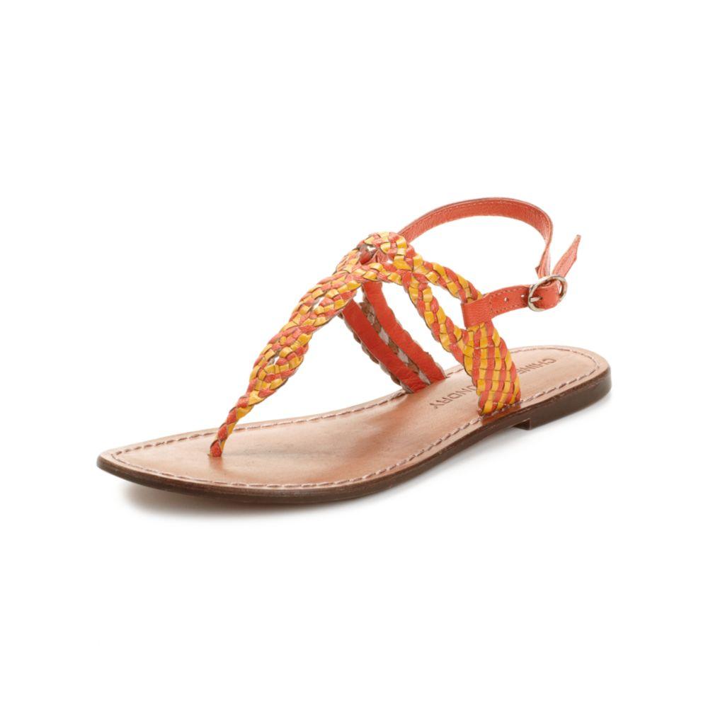 Chinese Laundry Native Flat Sandals In Orange Orange