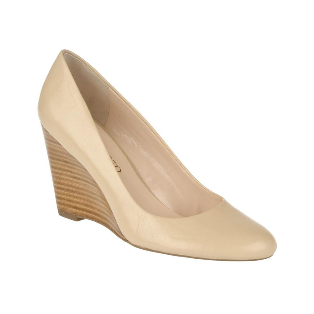 efb03062c7d0 Lyst - Franco Sarto Helio Wedge Pumps in Natural