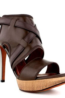 Lanvin Closed Platform Sandal with Mirrored Heel - Lyst