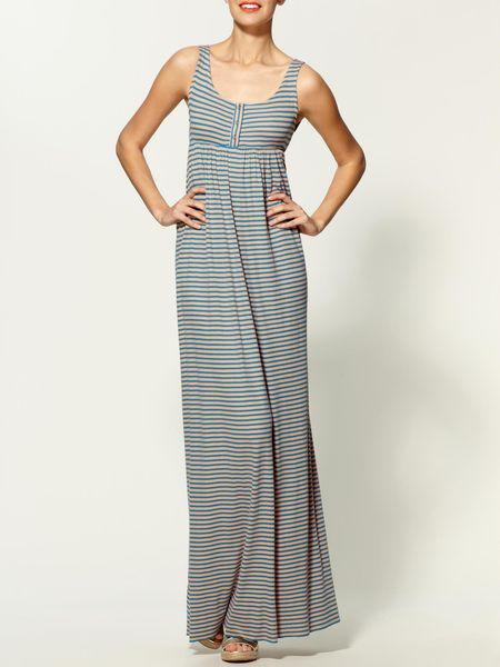 Rachel Pally Rib Izzy Dress in Gray (smoothie stripe)