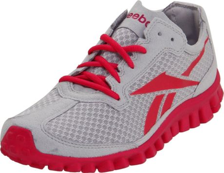 Reebok Reebok Womens Realflex Running Shoe in Gray (steel/overtly pink