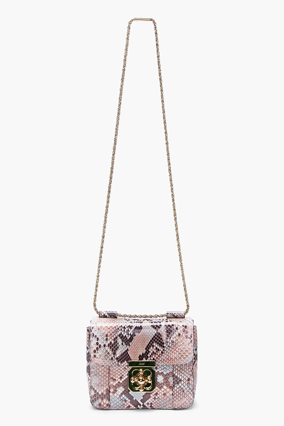 Chlo¨¦ Python Skin Elsie Evening Bag in Animal (taupe) | Lyst