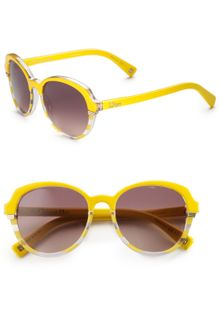 Dior Striped Plastic Round Sunglasses - Lyst