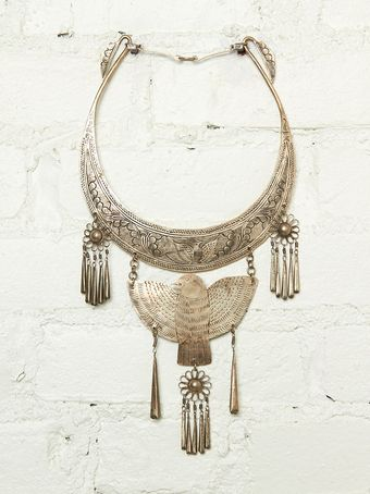 Free People Vintage Bird Bib Necklace - Lyst