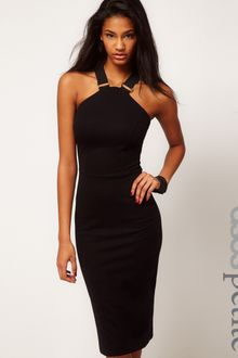 ASOS Collection Asos Petite Exclusive Pencil Dress with Strap Detail - Lyst