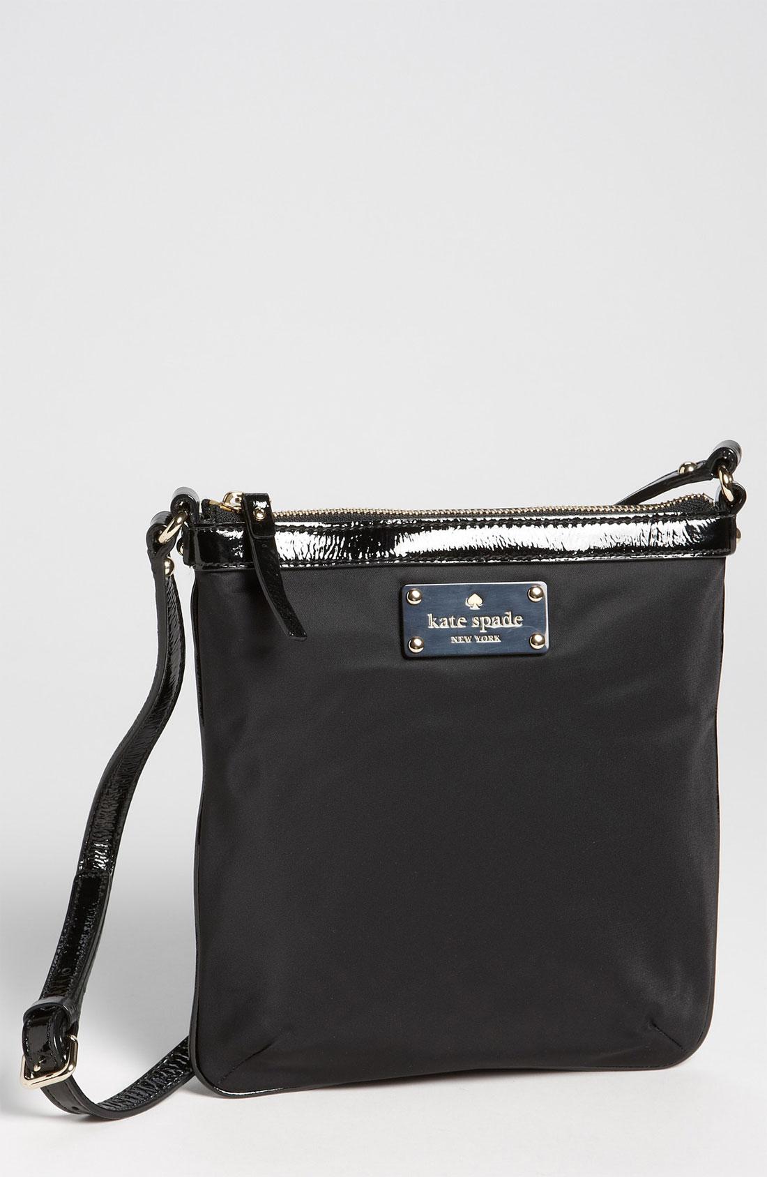 Kate Spade Thomas Nylon Crossbody Bag In Black Lyst