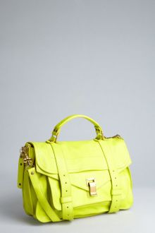Proenza Schouler Neon Yellow Leather Ps1 Medium Satchel - Lyst