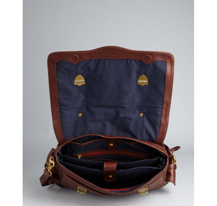Ben minkoff Cocoa Brown Leather Nikki Briefcase Messenger Bag in ... - Prada briefcase cocoa brown