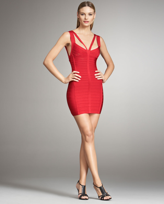 Herve Leger Sleeveless Mini Dress Discount Enjoy Sale Best Sale Recommend For Sale Buy Cheap For Sale Best Wholesale fnb3cx