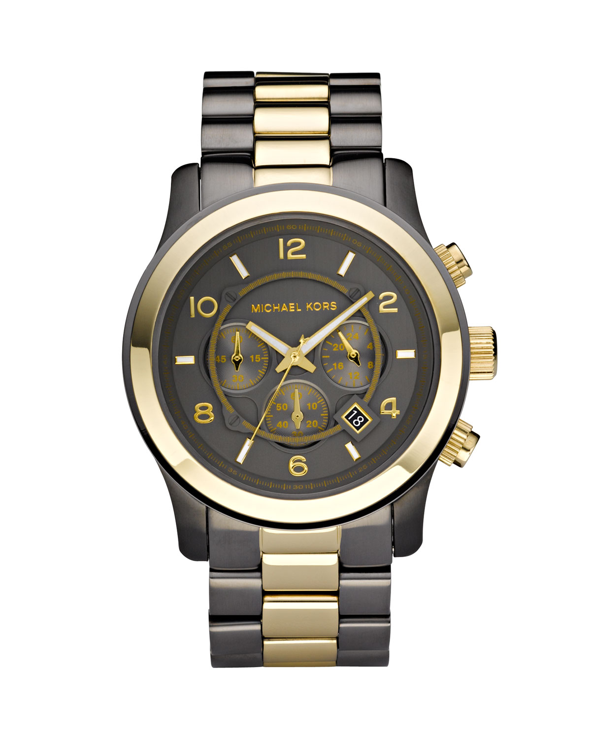 michael kors mens oversized chronograph in gold for