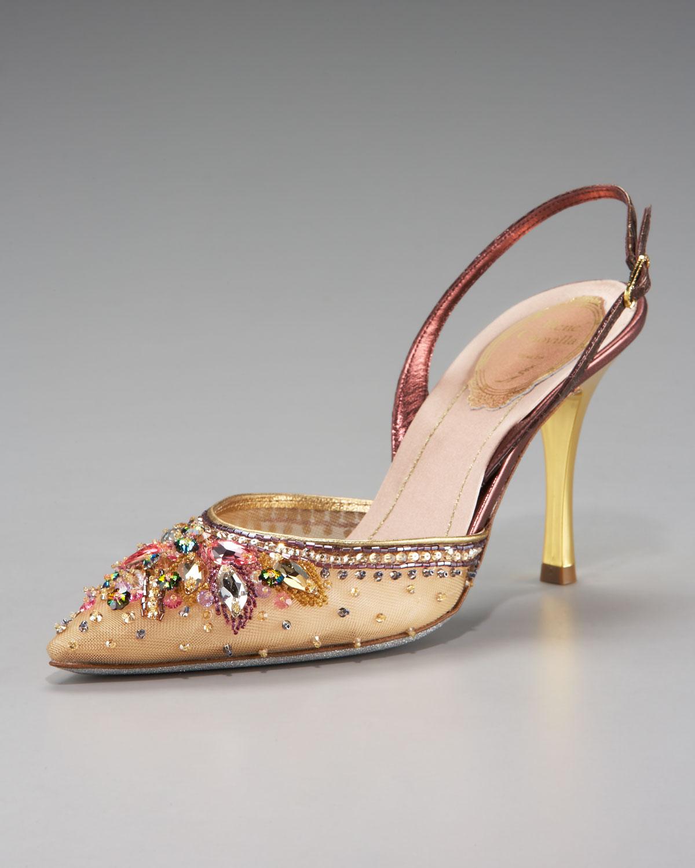 Gold Jeweled Heels | Tsaa Heel