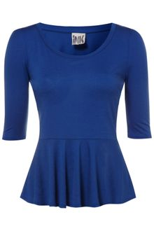 Therapy Jersey Peplum Top - Lyst