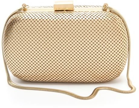 Whiting & Davis Minaudiere in Gold