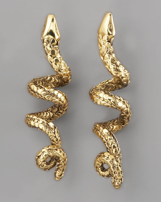 Karat Gold Snake Ring