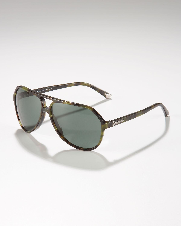 dc31662ec7f Lyst - Dolce   Gabbana Large Plastic Aviator Sunglasses