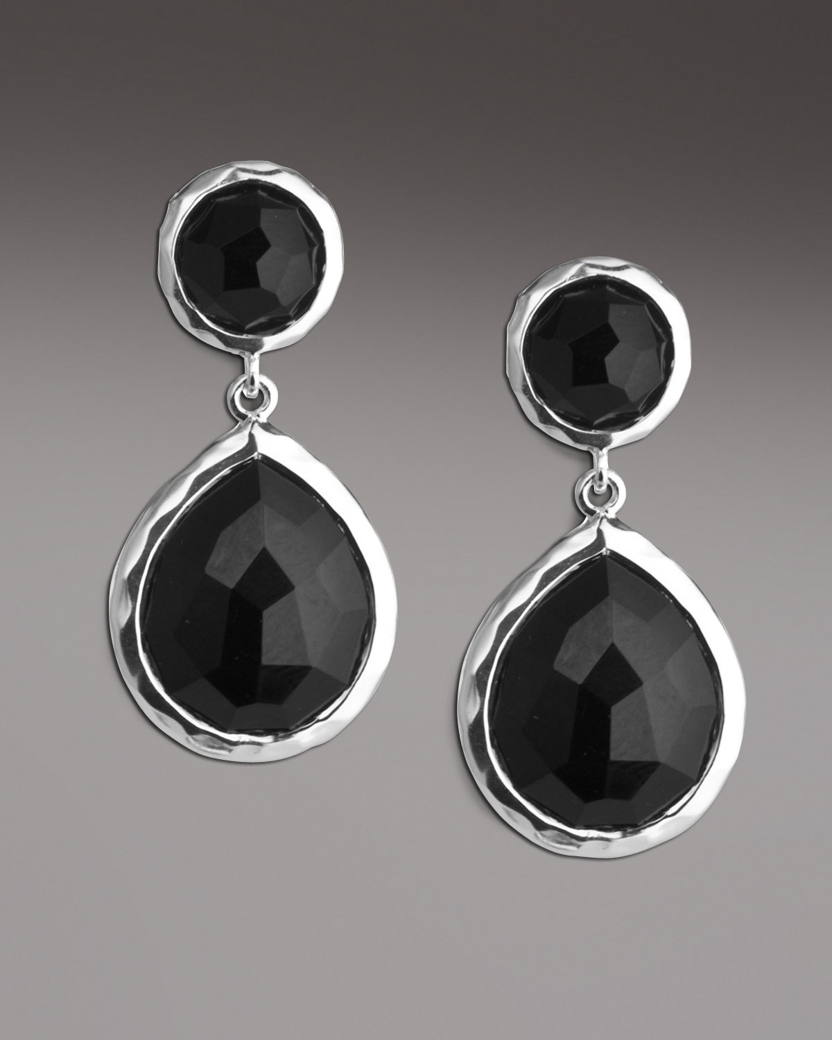 214d575c2df718 Black And Silver Drop Earrings Marcasite And Black Onyx Elongated ...