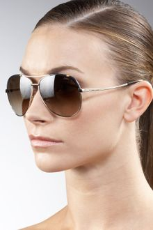Jimmy Choo Metal Aviator Sunglasses - Lyst