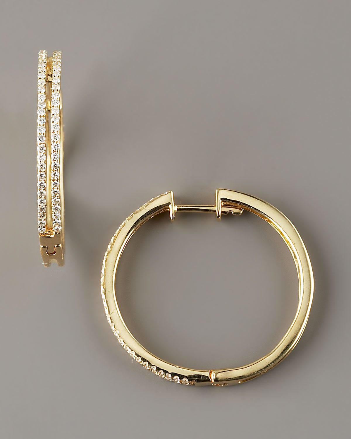 kc designs diamond hoop earrings 14k yellow gold in