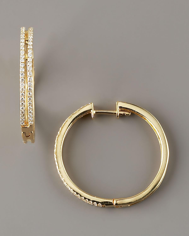 Kc Designs Diamond Hoop Earrings 14k Yellow Gold In Gold
