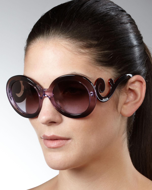 3abe6064ba Lyst - Prada Baroque Sunglasses in Brown