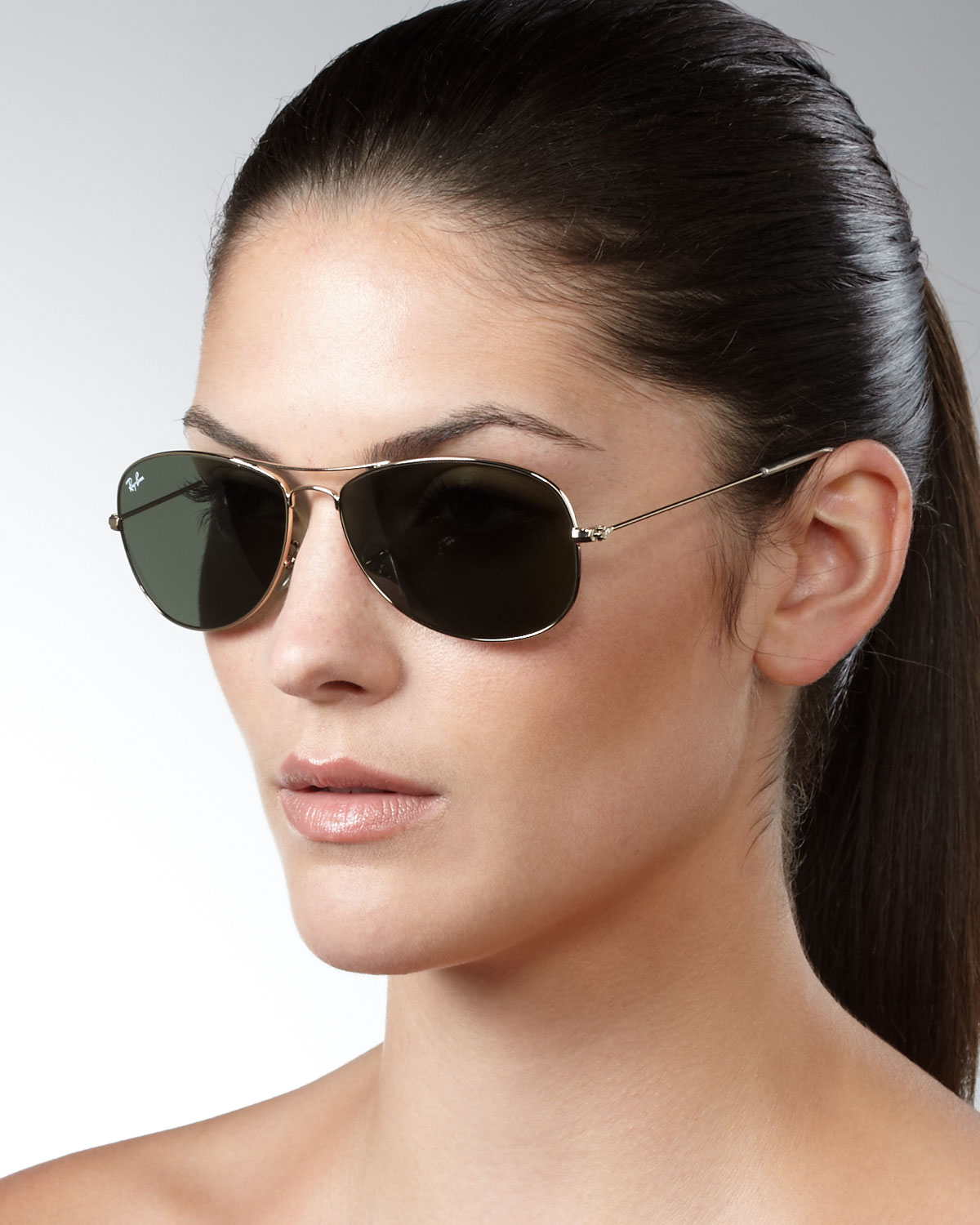 Lyst - Ray-Ban Aviator Sunglasses in Metallic ea4dec95899c