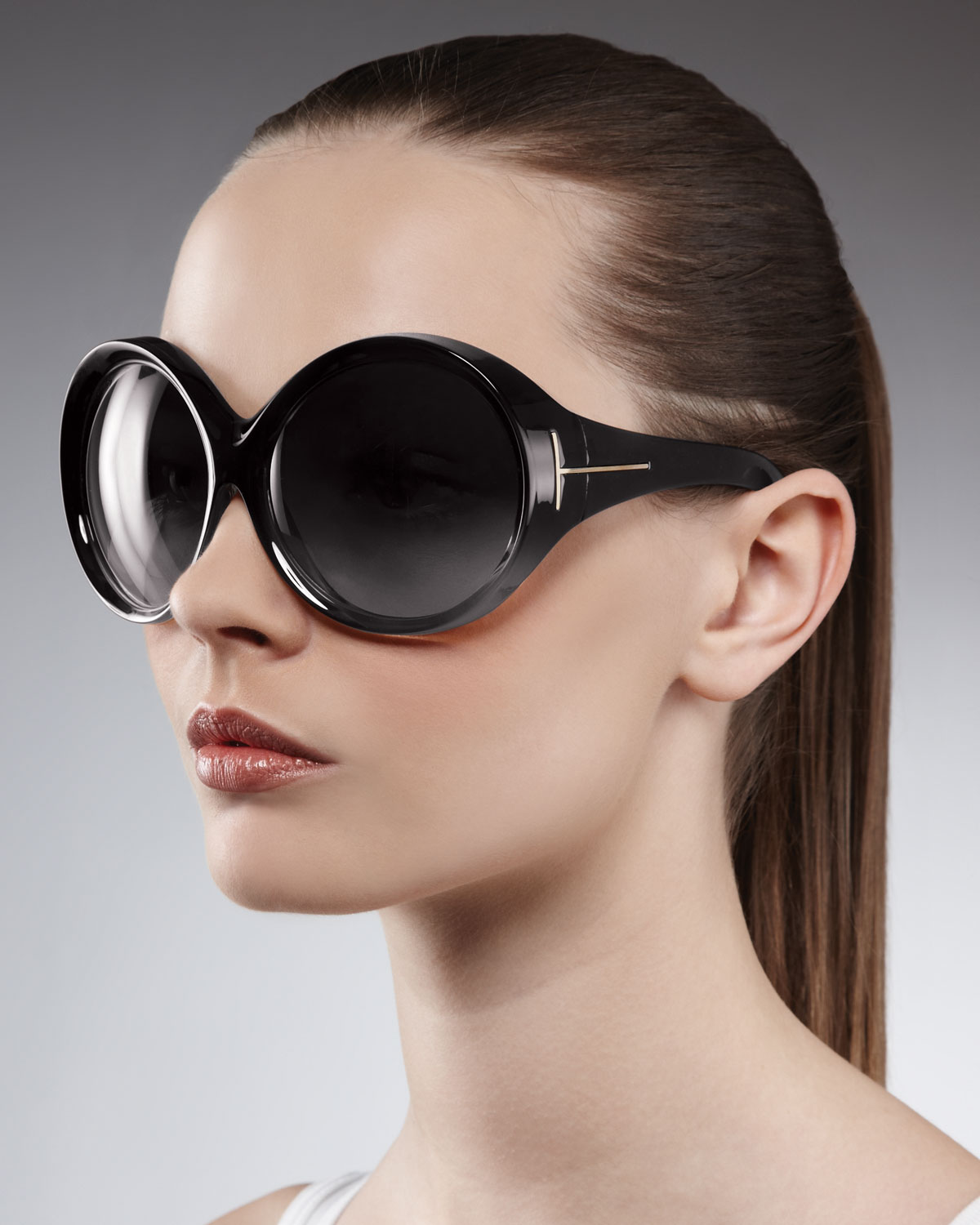 Tom Ford Oversized Sunglasses  tom ford ali oversized round sunglasses in black lyst