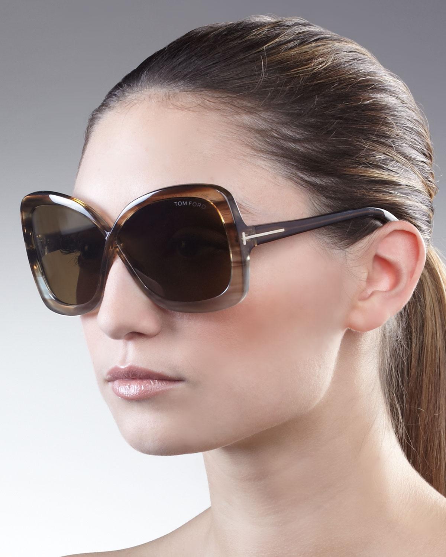 9495ca5de7b3 Lyst tom ford calgary butterfly sunglasses striped in black jpg 1200x1500 Tom  ford jade sunglasses