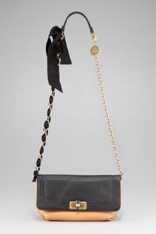 Lanvin Colorblock Happy Crossbody Bag Blackbeige - Lyst