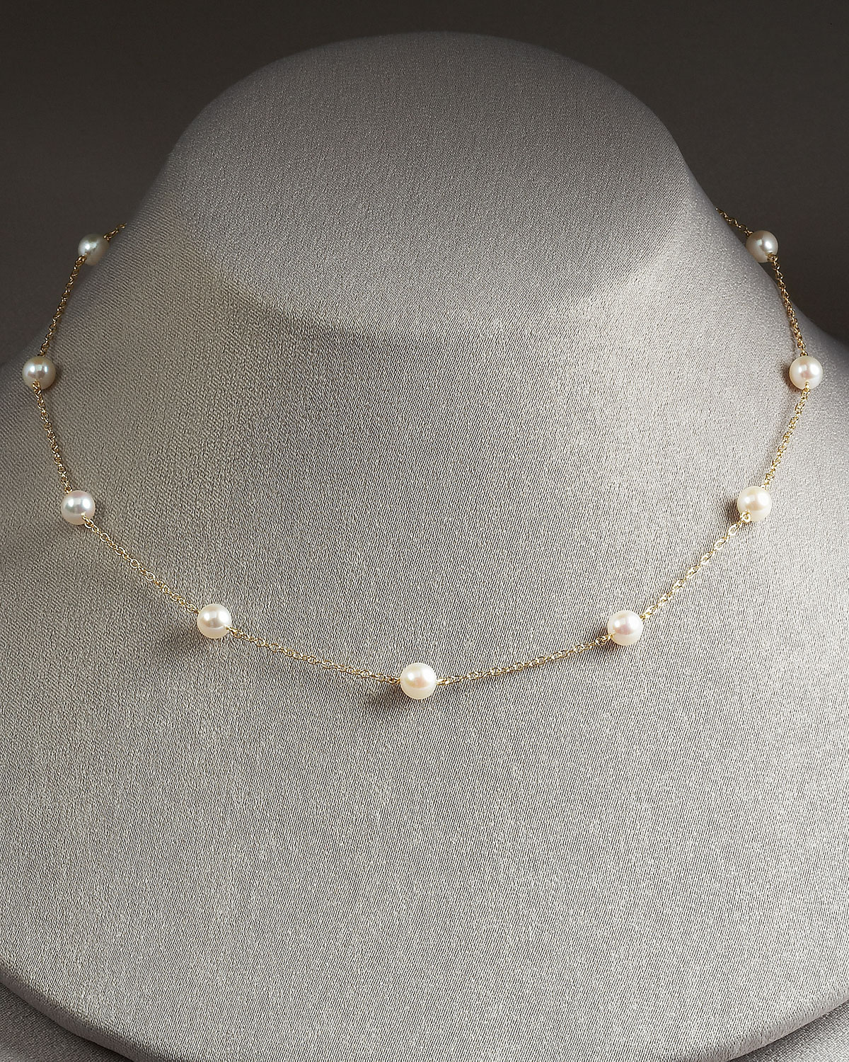 ab5bd66578a51 Lyst - Mikimoto Akoya Pearl Necklace in White