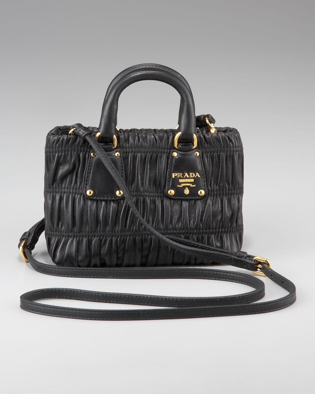 orange prada bag - prada metallic nappa gaufre messenger bag, womens prada wallets