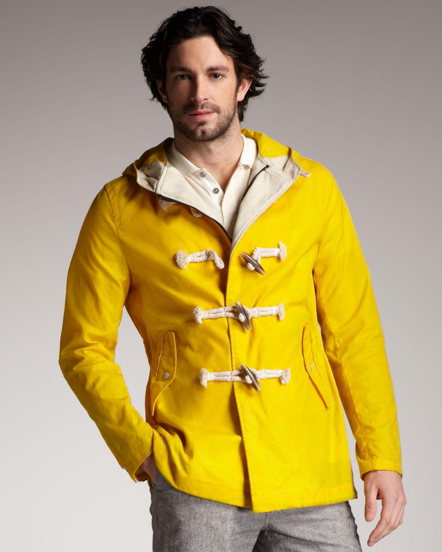 Rag & bone Northside Duffle Coat in Yellow for Men | Lyst