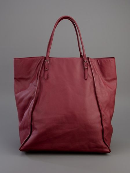 Balenciaga Papier A4 Shopper in Red (burgundy) - Lyst