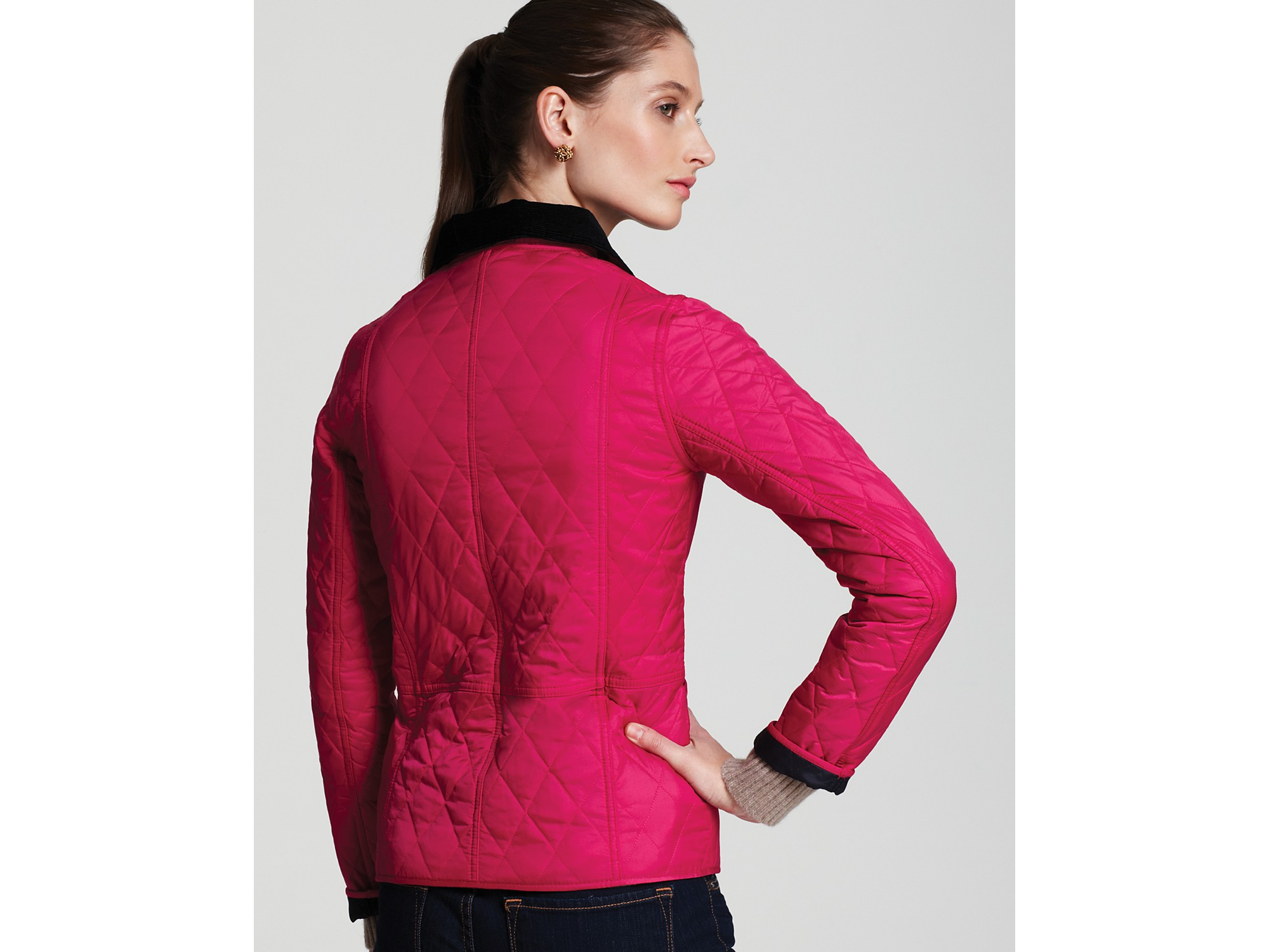 Barbour Summer Liddesdale Quilted Jacket in Pink | Lyst
