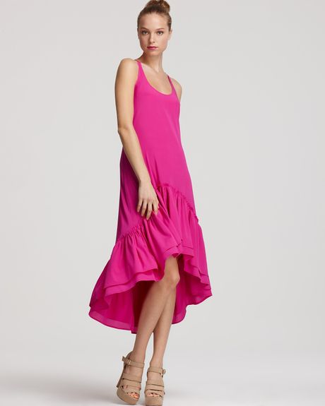 Hem Dress Dress With Ruffle Hem in