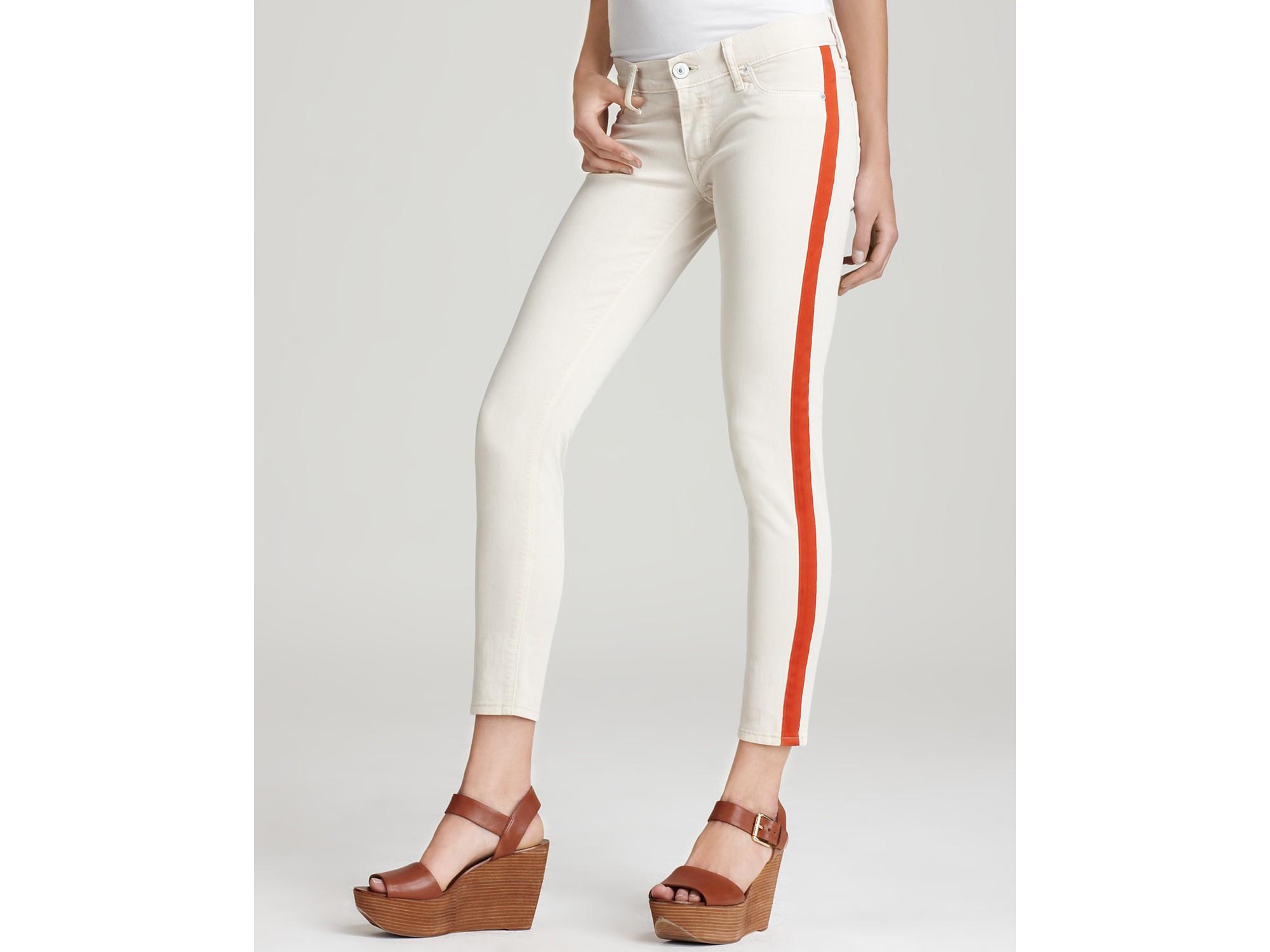 6861484f008 Hudson Jeans Jeans Lou Lou Tuxedo Stripe Crop Skinny Jeans in Tilda ...