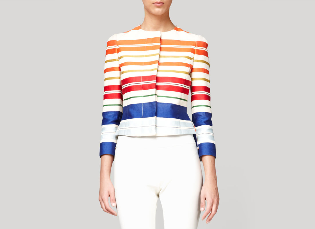lyst stella mccartney noemie bonded deckchair jacket