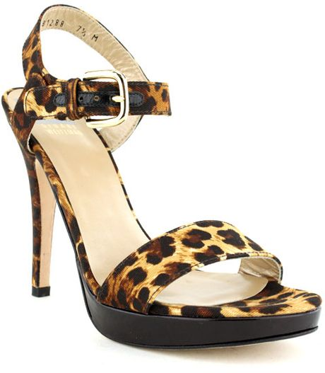Stuart Weitzman Strutting Sandal Org 370 Now in Animal (leopard)