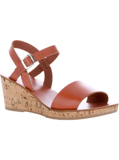 A P C Low Wedge Sandal In Brown Lyst