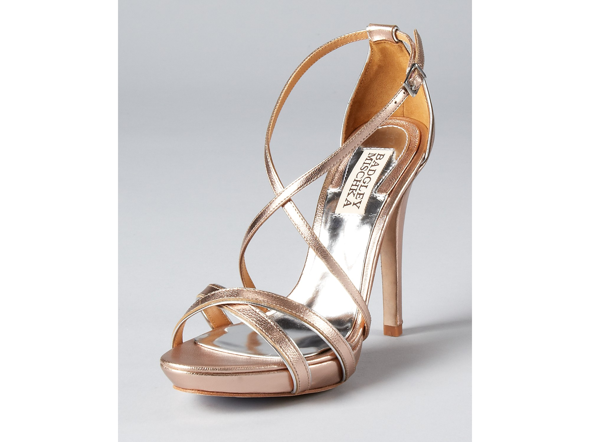 Badgley mischka Sandals Fierce in Metallic