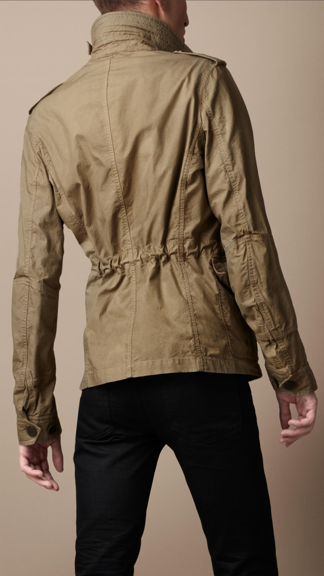 burberry brit workwear cotton field jacket in natural for