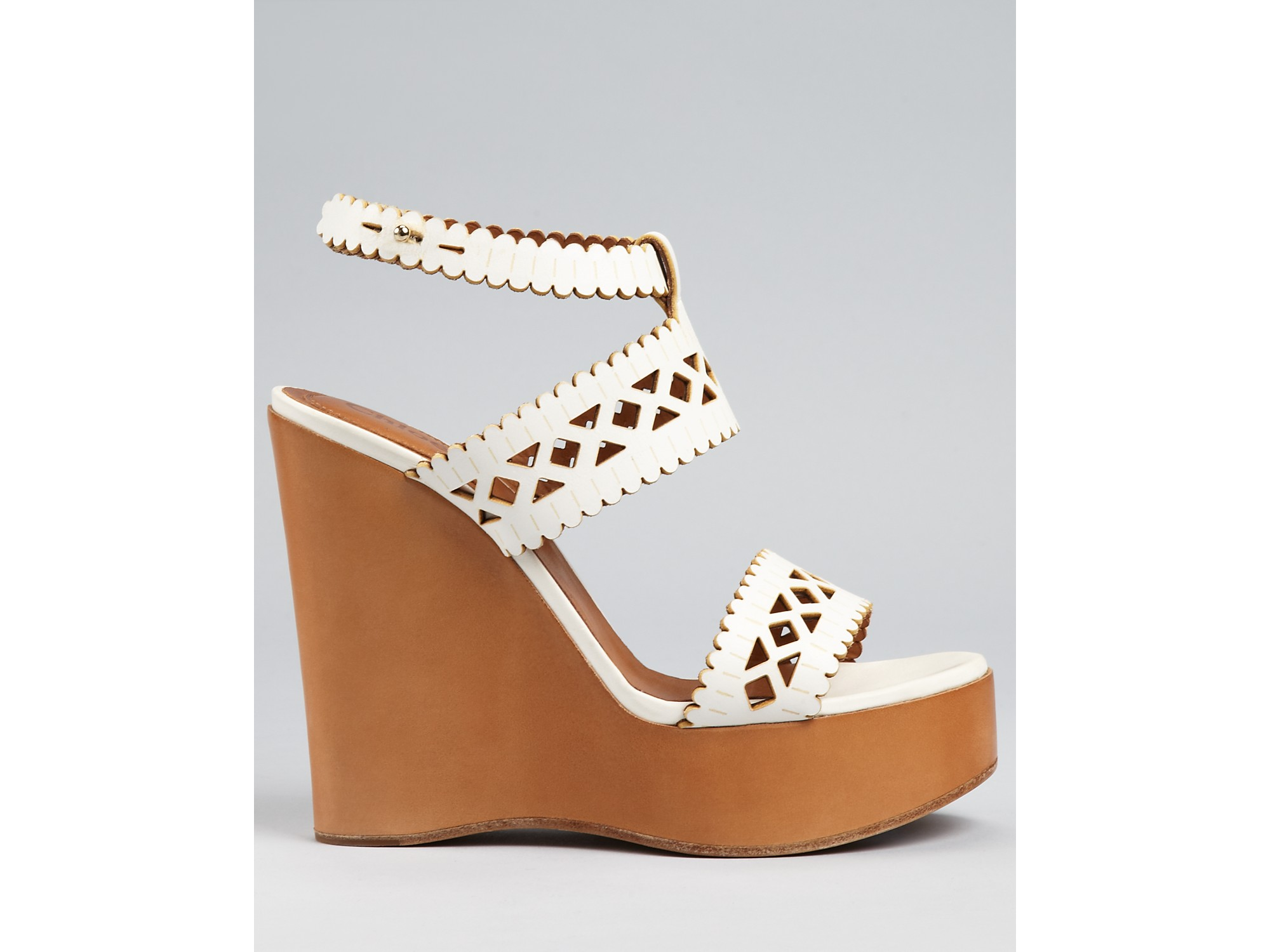 aef697720 Gallery. Previously sold at  Bloomingdale s · Women s White Wedge Shoes ...