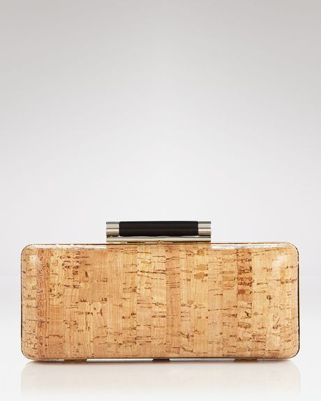Diane Von Furstenberg Clutch Tonda Cork in Beige (natural)