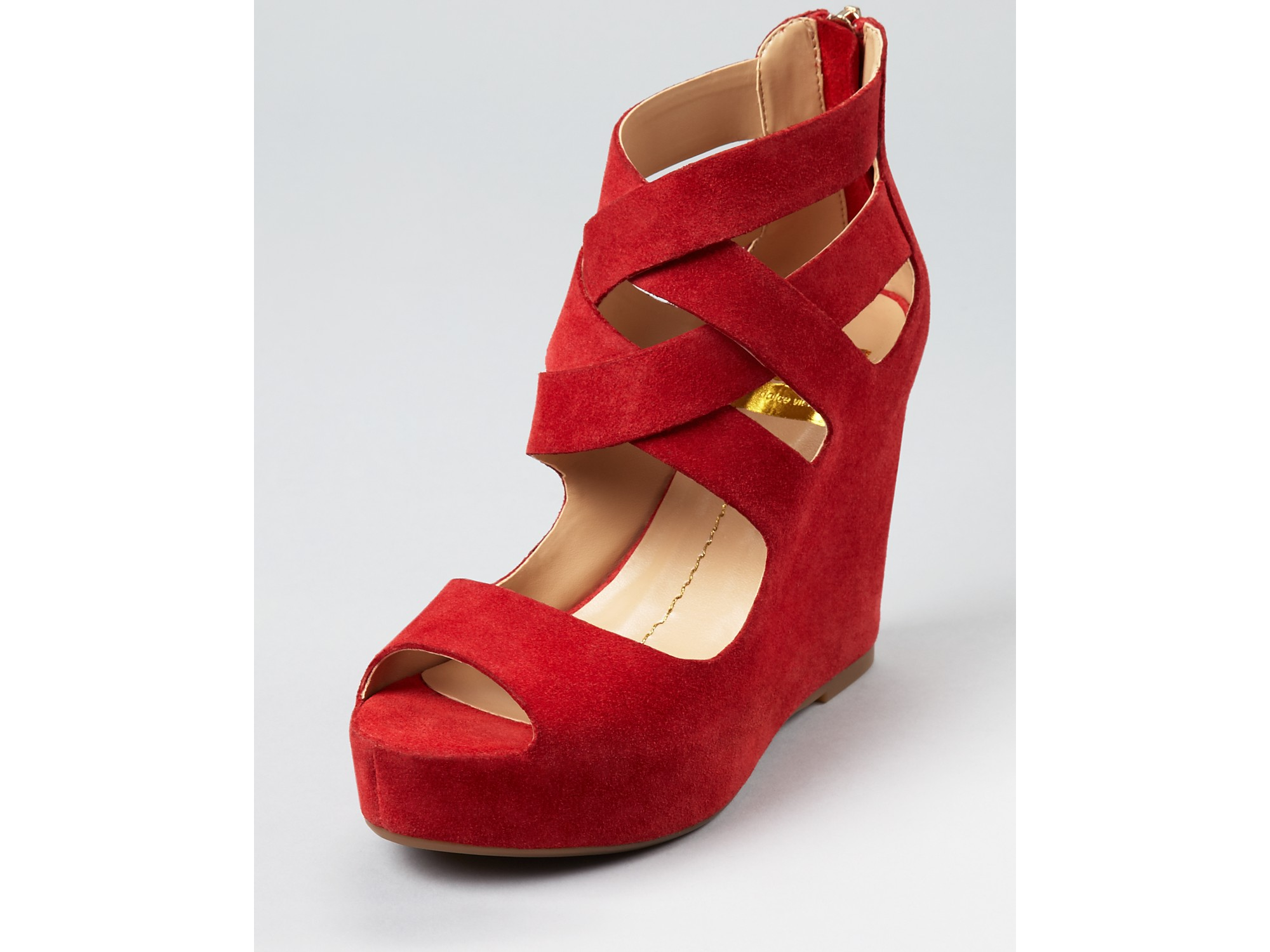 17dc0f4ea4a Lyst - Dolce Vita Dv Wedges Jude Strappy in Red