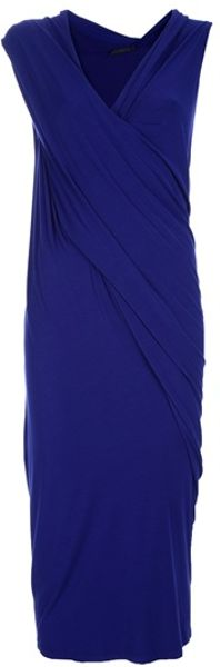 Donna Karan New York Sleeveless Dress in Blue (purple)