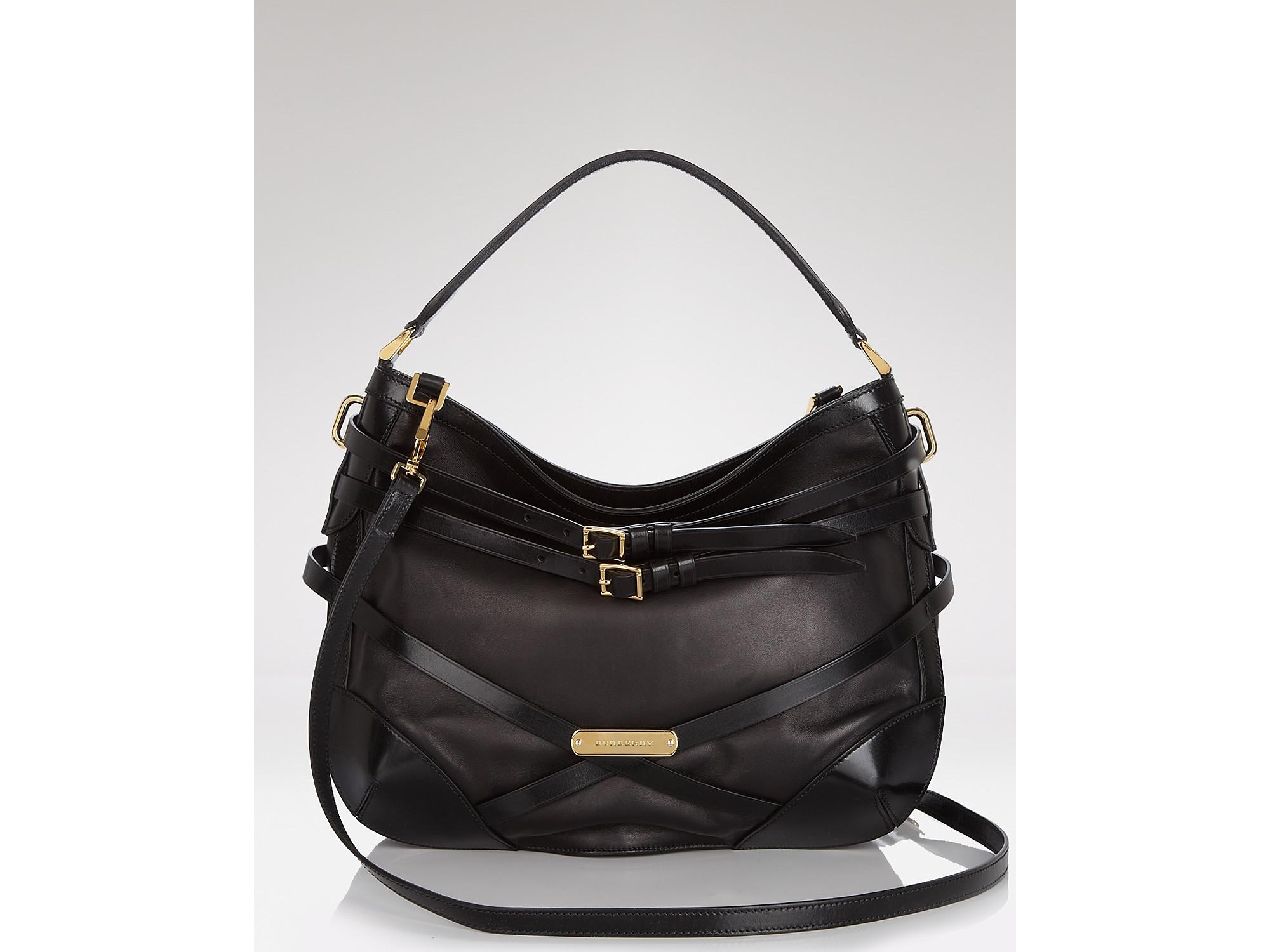 96e4eb22a2da Lyst - Hobo Burberry Bridle Leather Small Dutton in Black