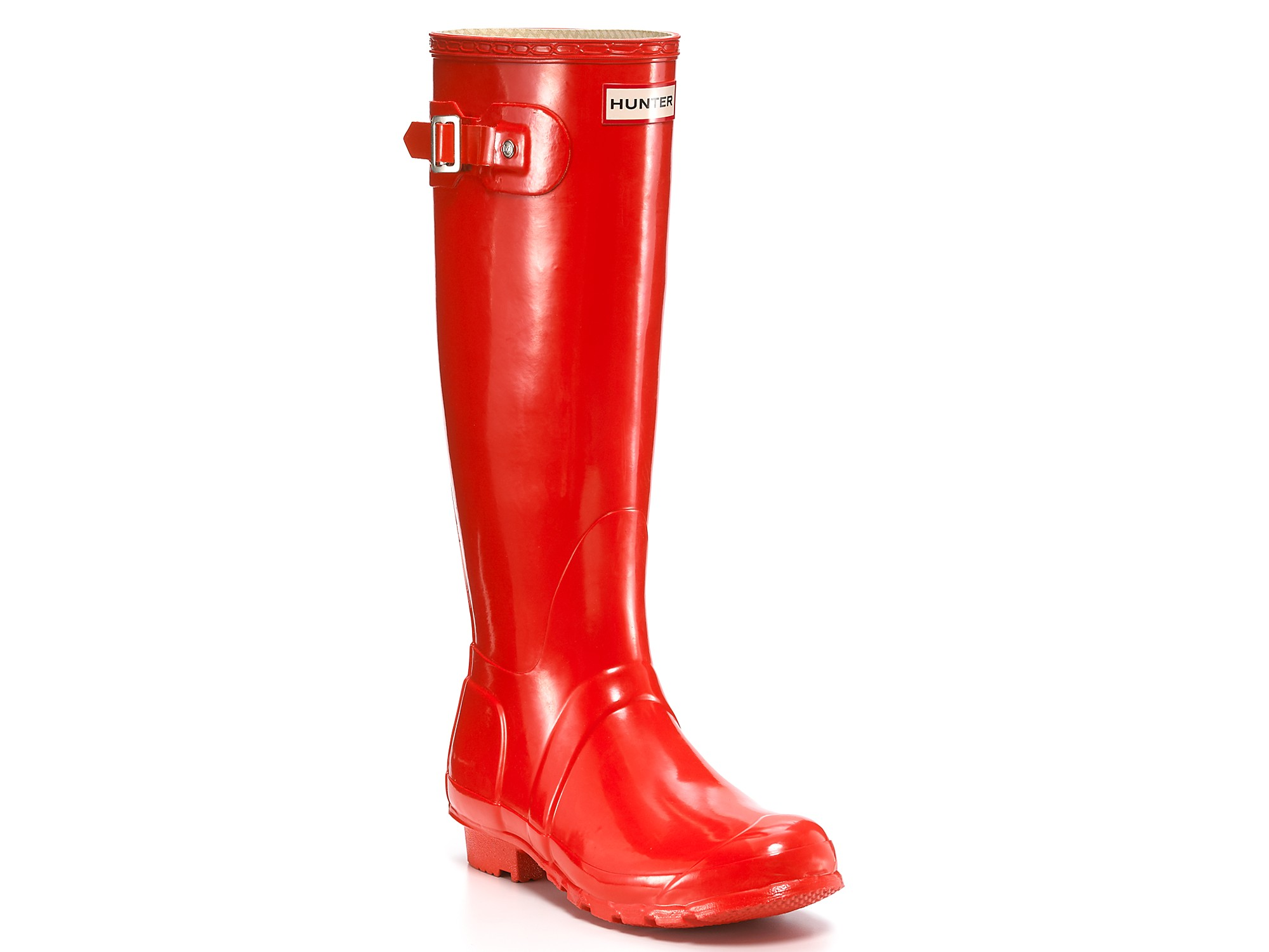 Hunter Rain Boots Original Tall Gloss in Red | Lyst