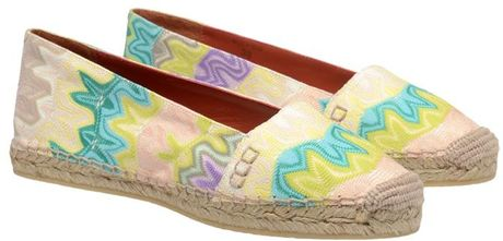 Missoni Knit Covered Espadrilles in Multicolor (green) - Lyst