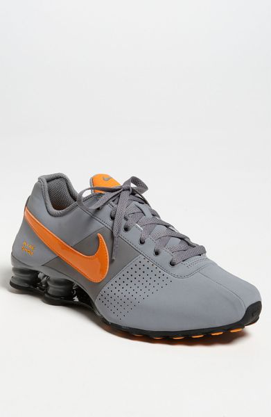 brand new 1f990 a224a ... nike shox deliver sky blue orange mens nike shox deliver orange yellow  ...
