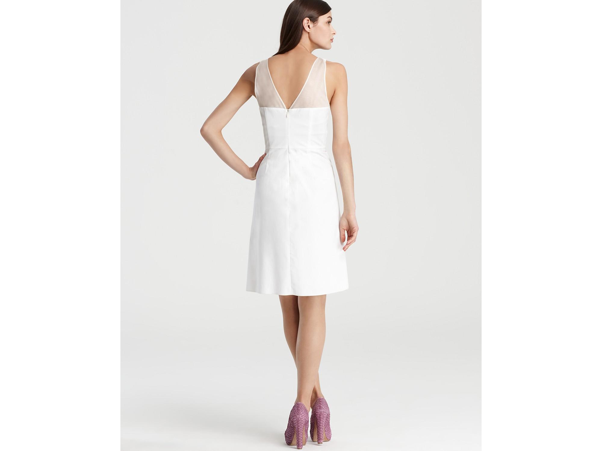 Rachel roy draped wrap dress in white lyst gallery ombrellifo Gallery